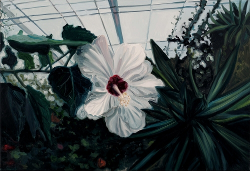 Pam Grier (Botanical Garden - Hibiscus), oil on canvas, 75x110cm, 2012.jpg
